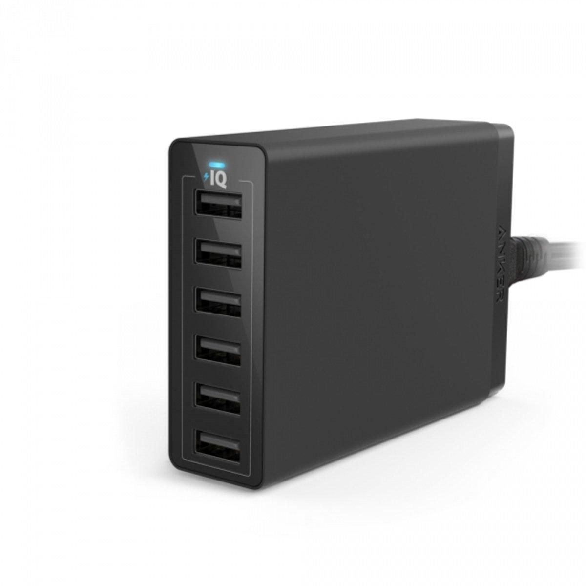 Anker 60W 6 USB充電器 黑色
