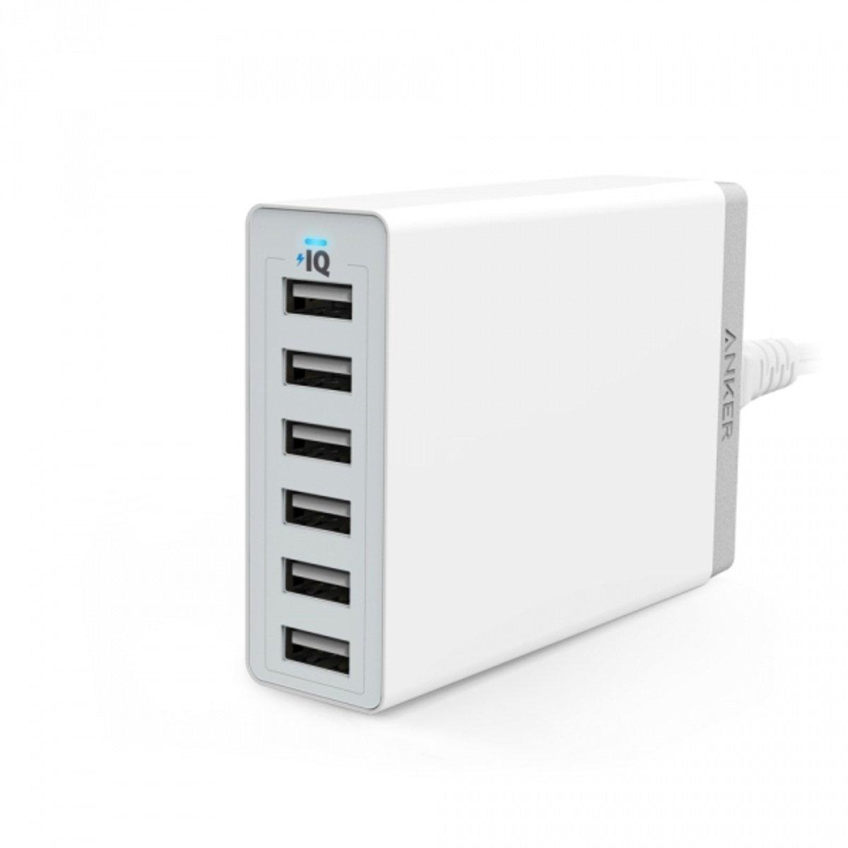 Anker  60W 6 USB充電器 白色