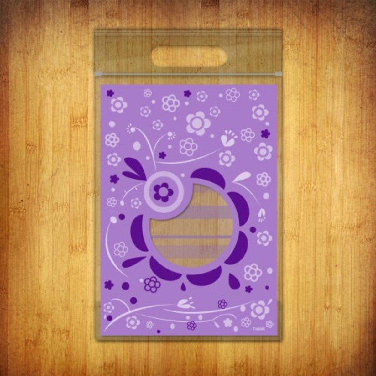 PP夾鏈袋-(花語-紫色10個裝)