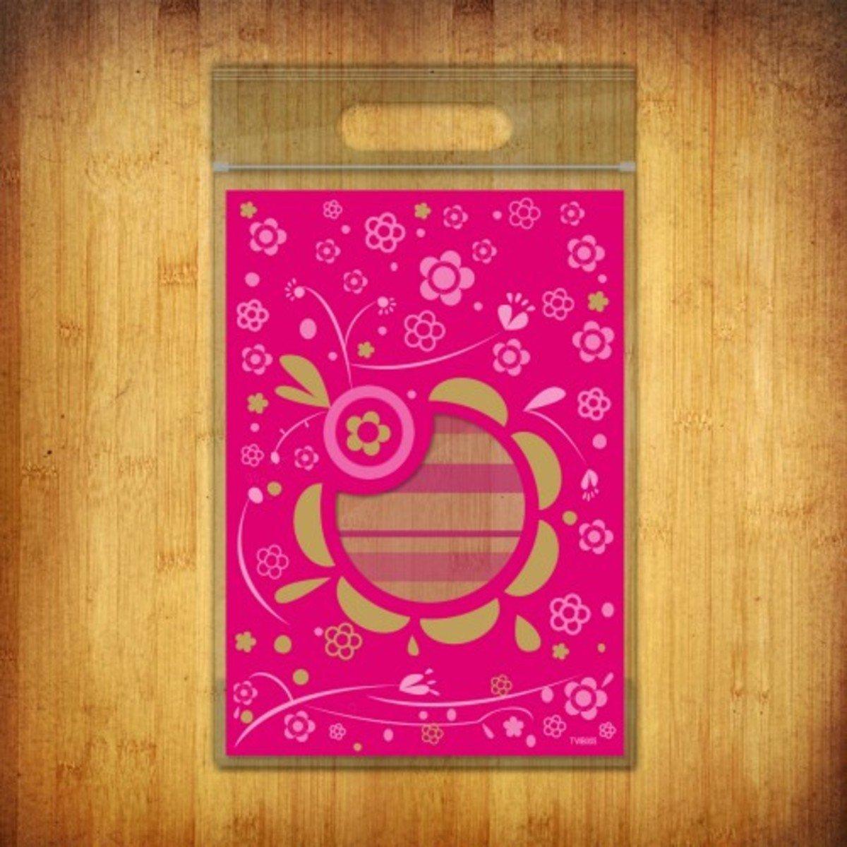 PP夾鏈袋-(花語-桃紅色10個裝)