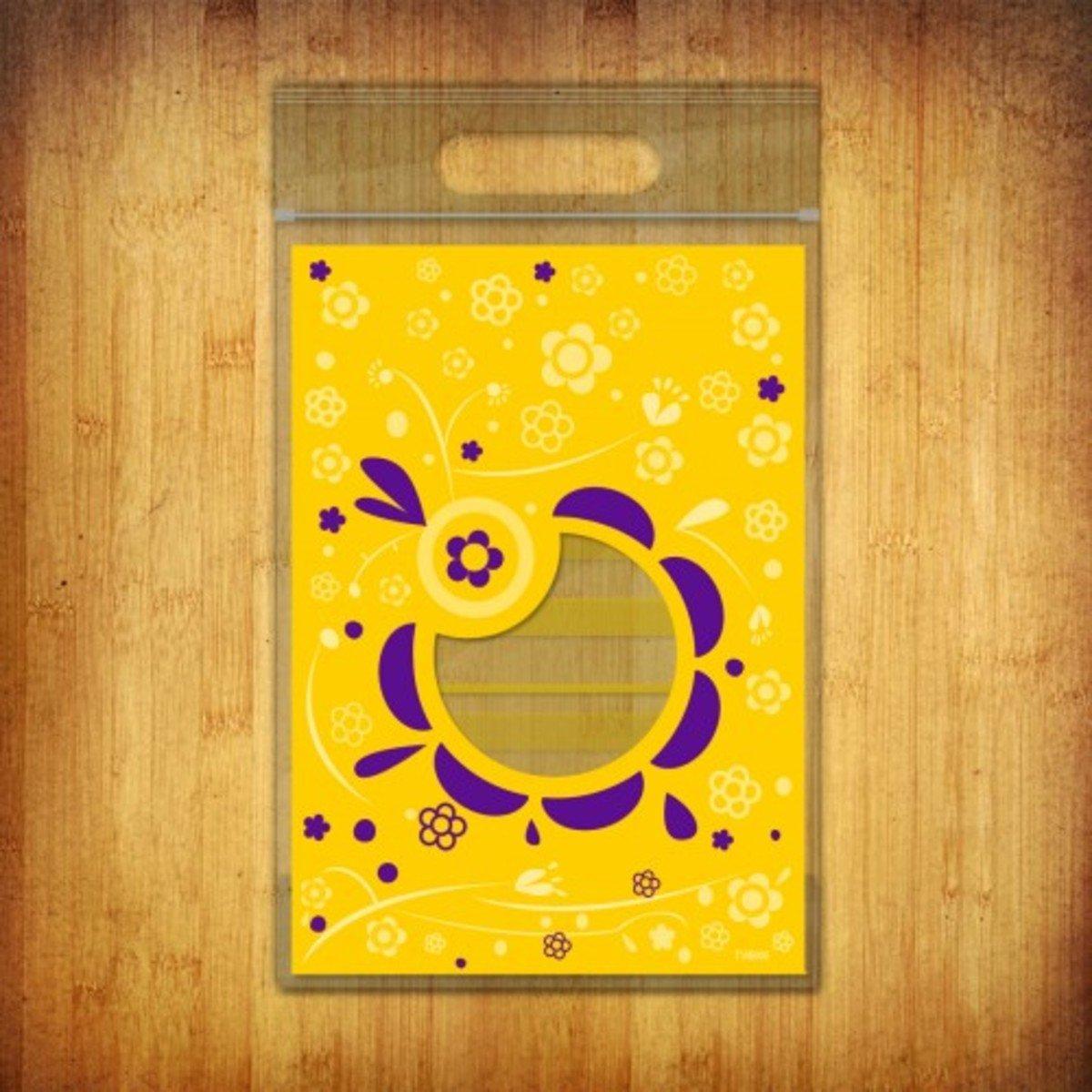 PP夾鏈袋-(花語-黃色10個裝)
