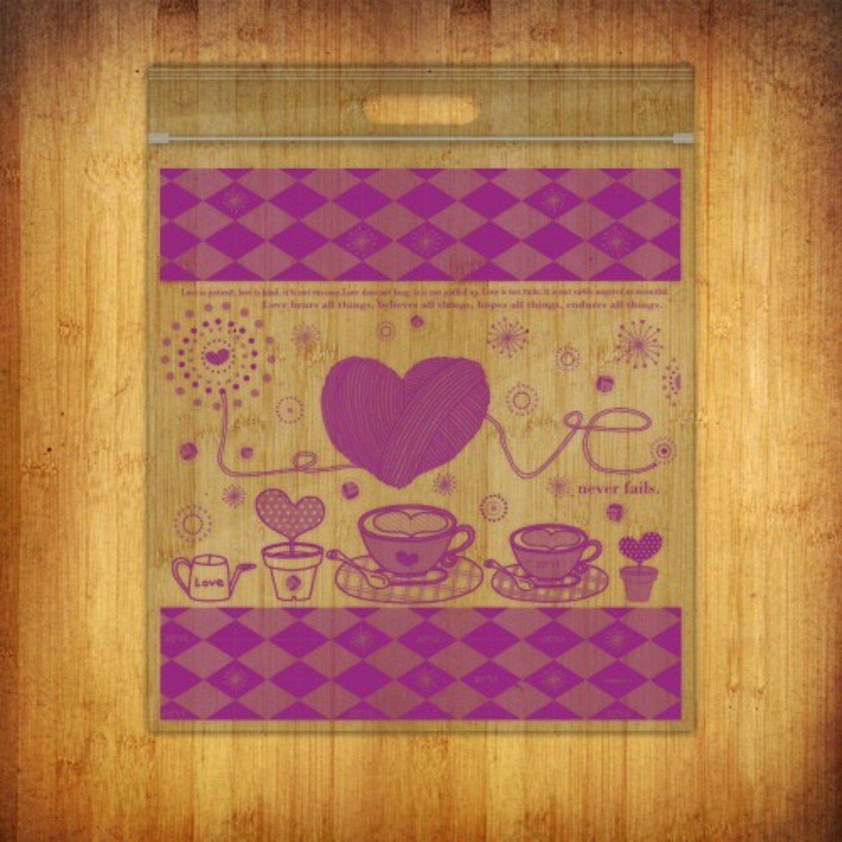 PP夾鏈袋-(愛加倍-紫10個裝)
