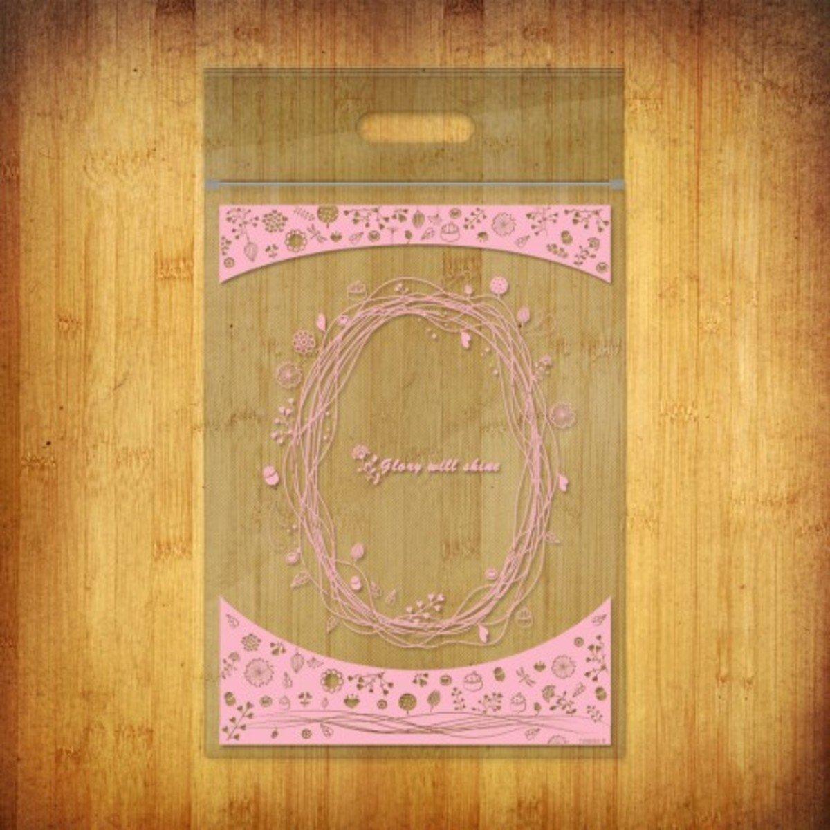 PP夾鏈袋-(繁心點點-粉色10個裝)