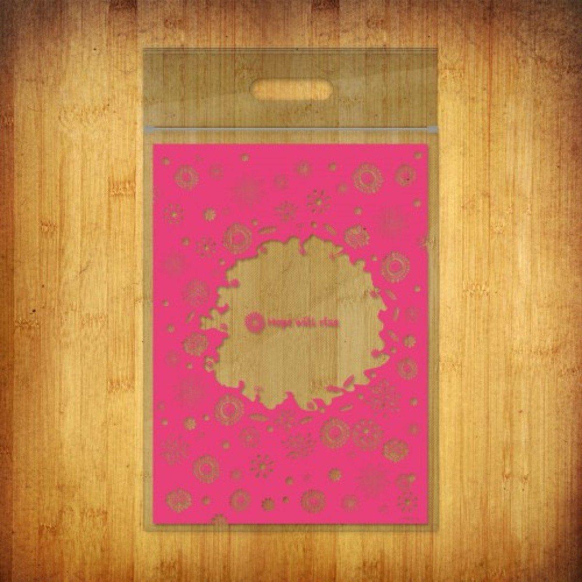 PP夾鏈袋-(春暖-紅色10個裝)