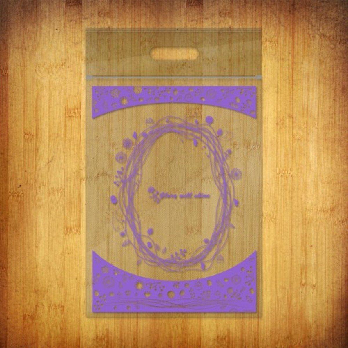PP夾鏈袋-(繁心點點-薰衣草紫10個裝)