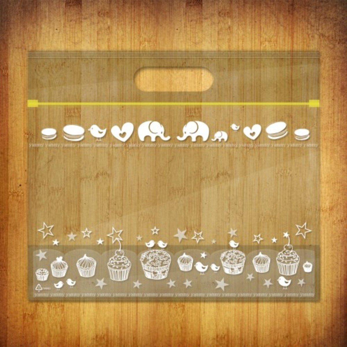 PP夾鏈麵包/食物袋-(雅比美物-白色物語10個裝)