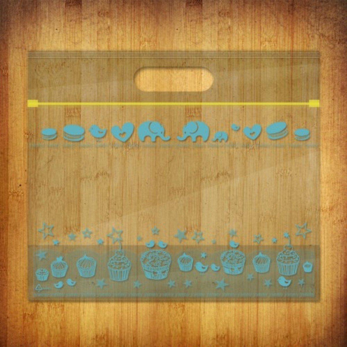 PP夾鏈麵包/食物袋-(雅比美物-蔚藍左岸10個裝)