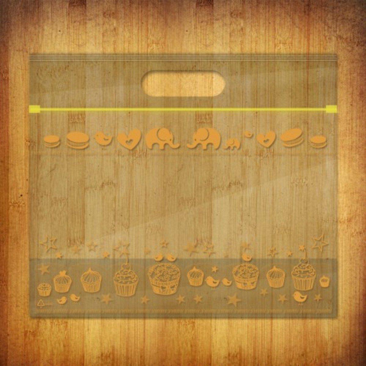 PP夾鏈麵包/食物袋-(雅比美物-澄香10個裝)