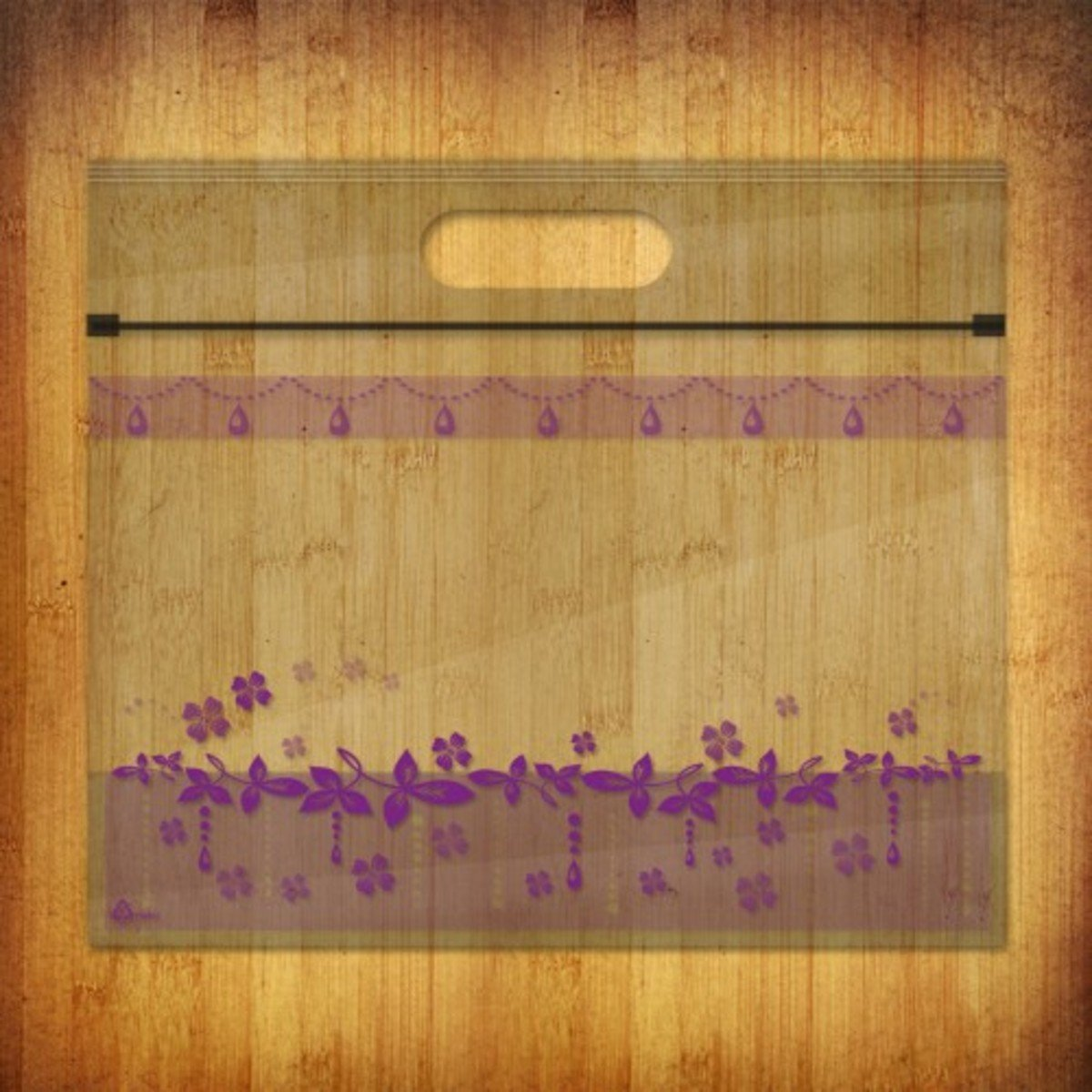PP夾鏈麵包/食物袋-(花漾水晶-紫蘿10個裝)