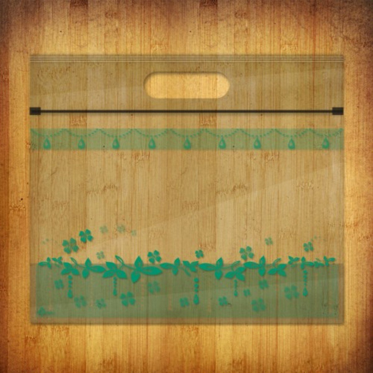 PP夾鏈麵包/食物袋-(花漾水晶-堤綠10個裝)