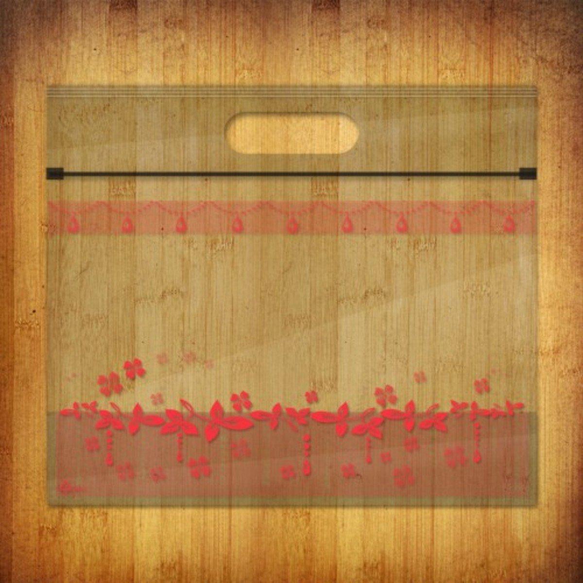 PP夾鏈麵包/食物袋-(花漾水晶-瑰紅10個裝)