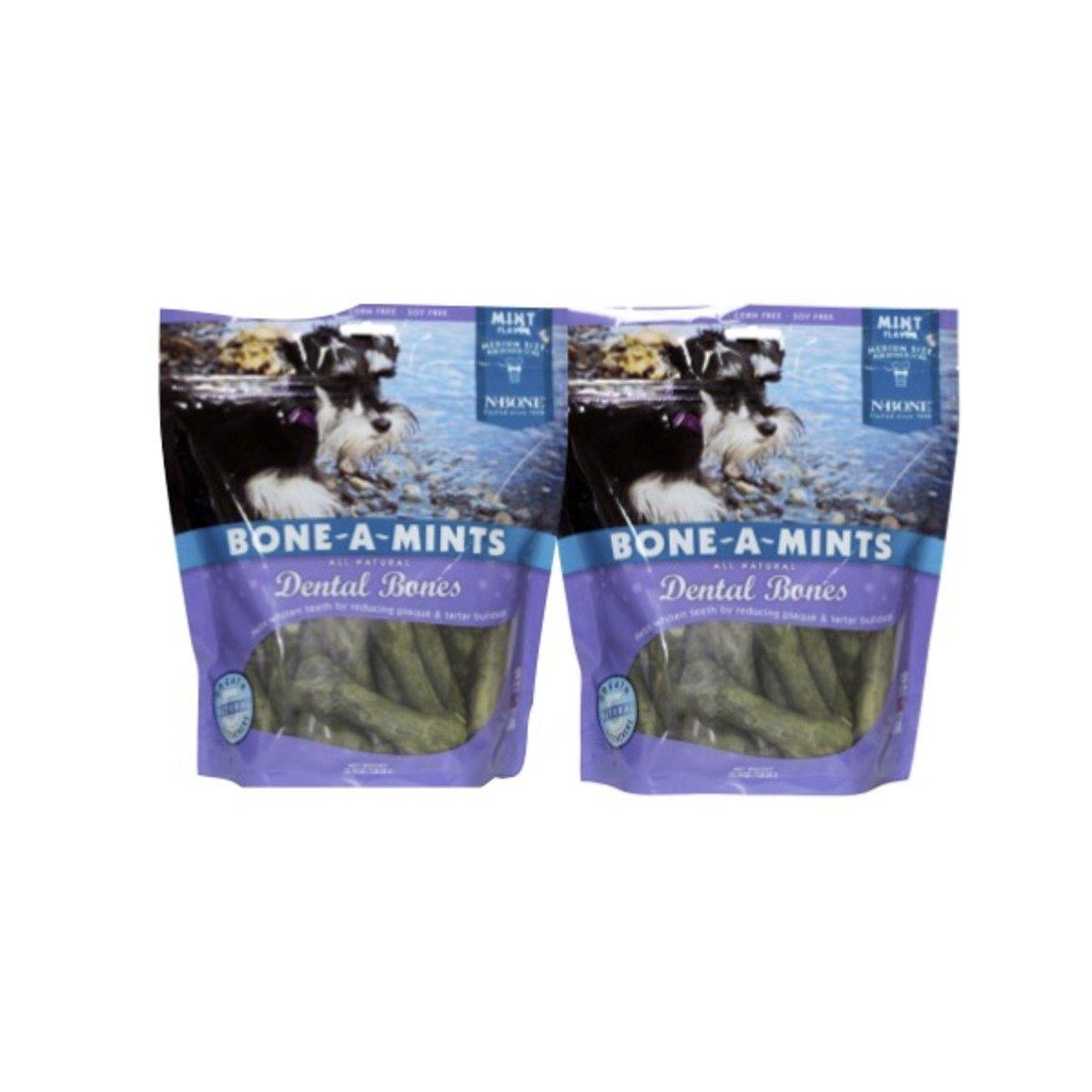 美國 BONE-A-MINTS 薄荷味潔齒骨家庭裝2包(中)25.74oz/包