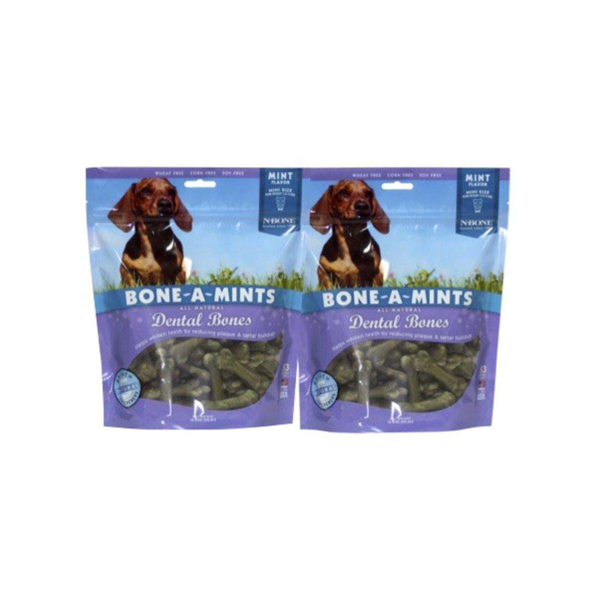 美國 BONE-A-MINTS 薄荷味潔齒骨家庭裝2包(迷你)18.55oz/包