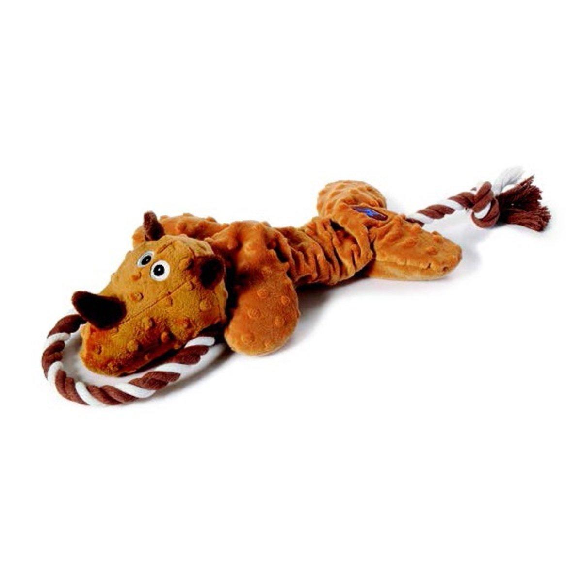 寵物彈力拉繩發聲玩具 - 犀牛