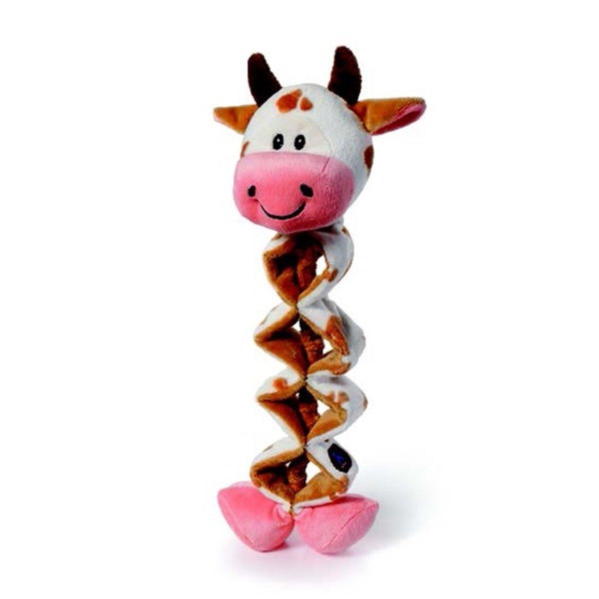 寵物彈簧發聲玩具 - 奶牛