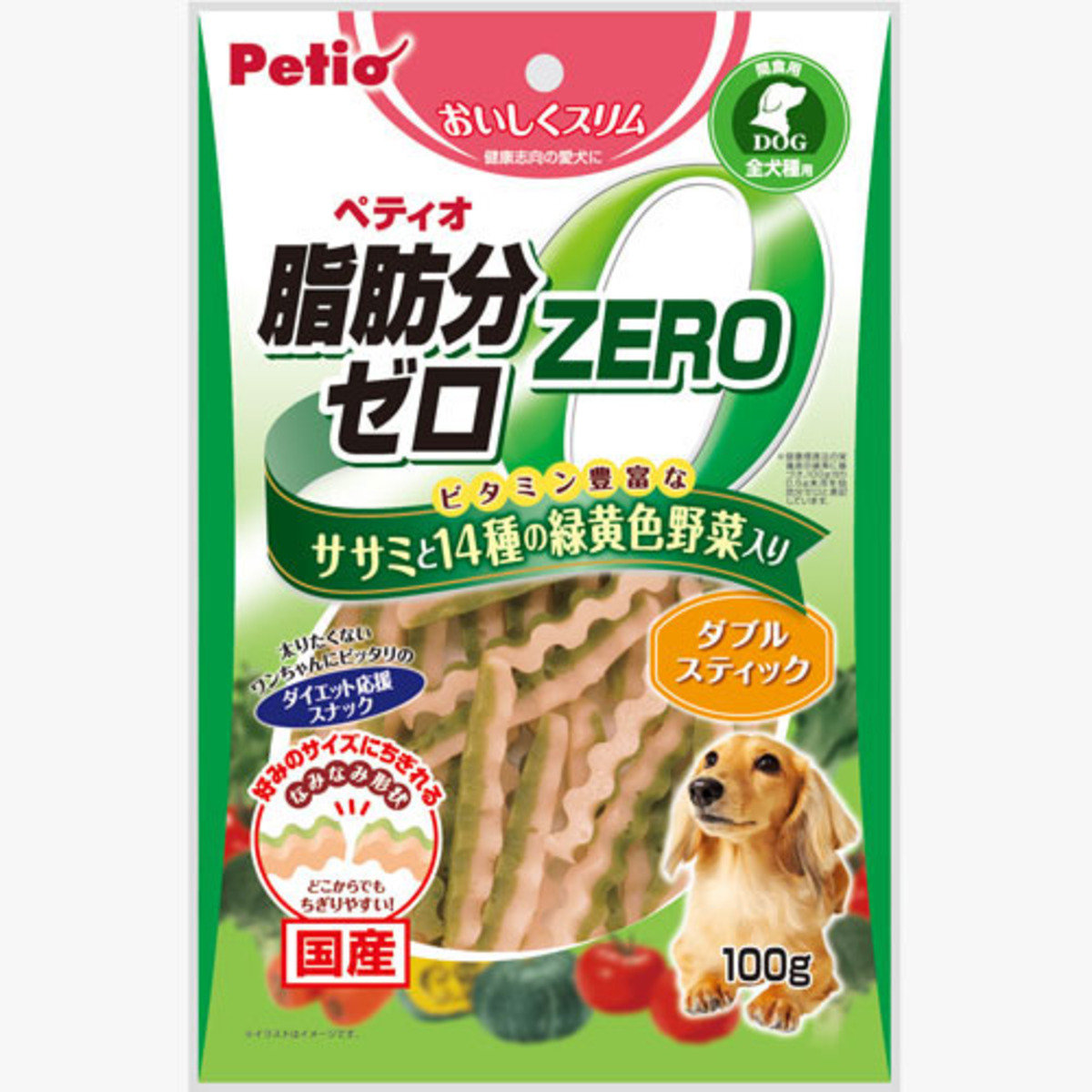 狗小食低脂雞胸肉及14式蔬菜雙色波浪條(W12035)
