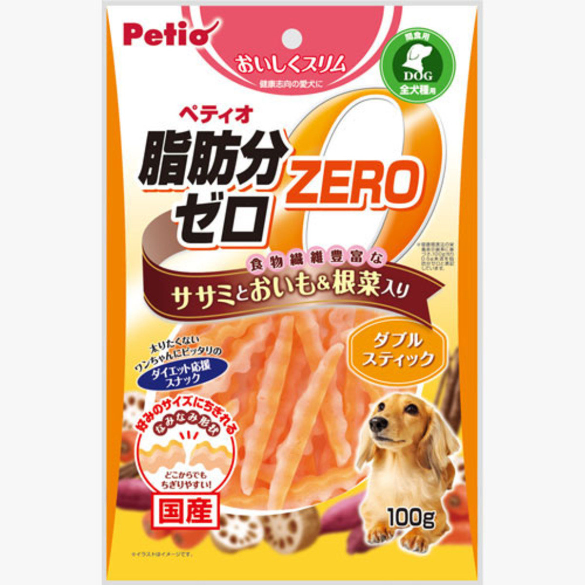 狗小食低脂雞胸肉及甘薯雙色波浪條(W12036)