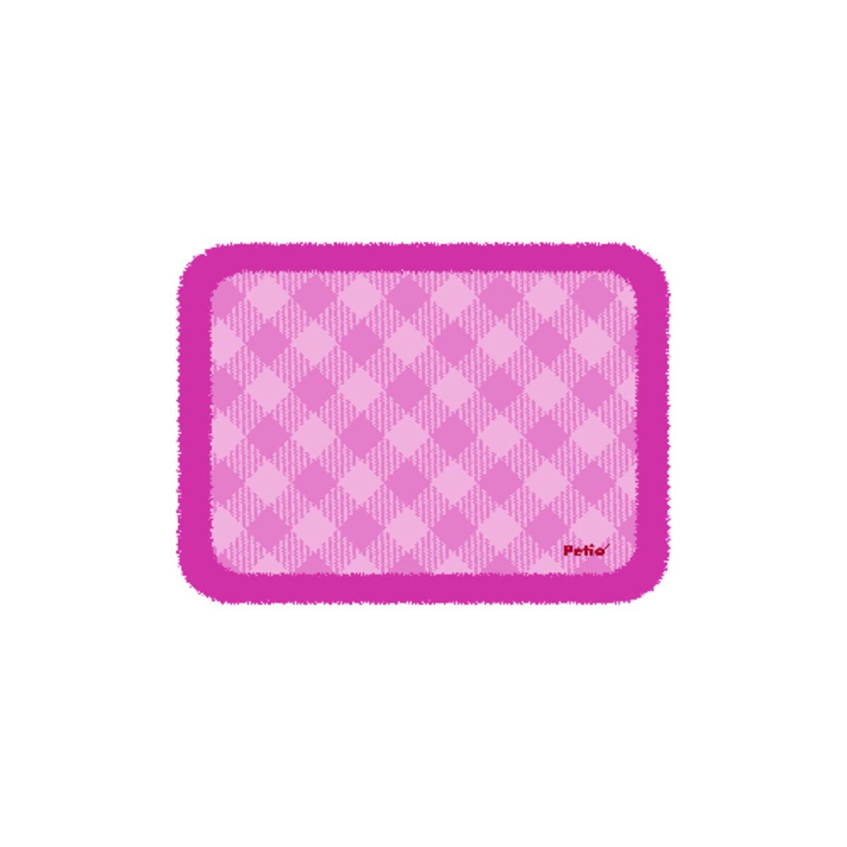 粉色格仔保暖墊(中)(QC71067)