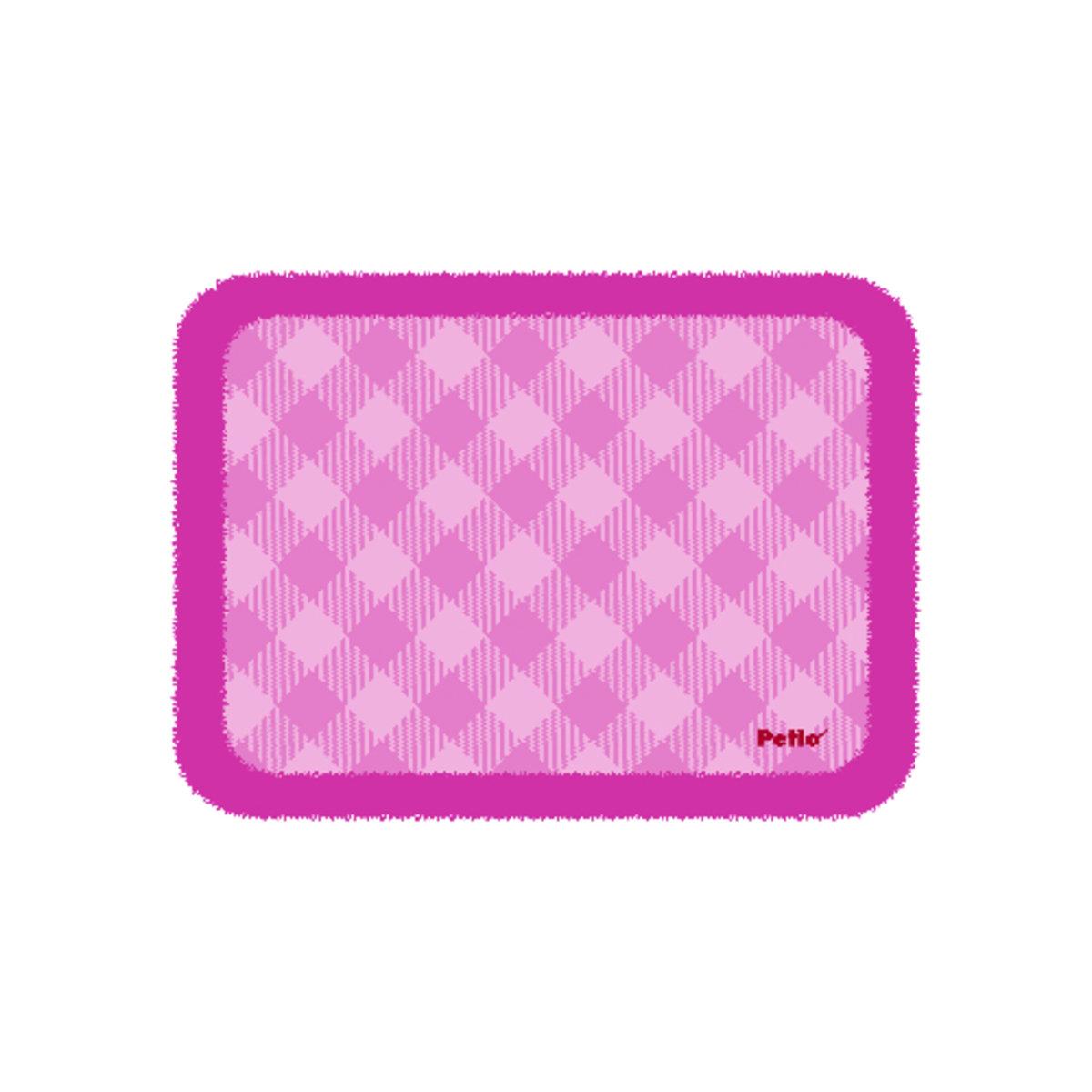 粉色格仔保暖墊(大)(QC71068)