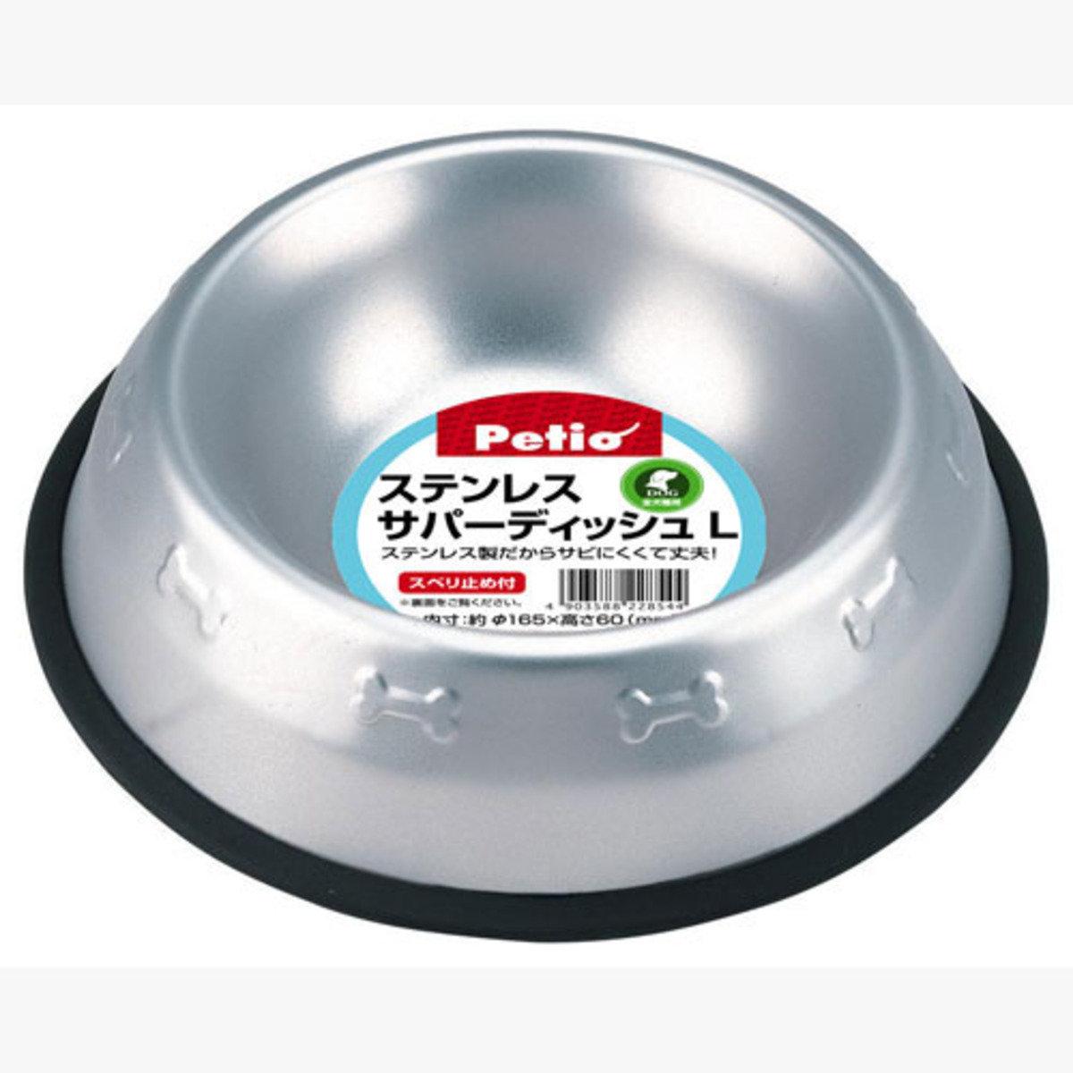 防滑不鏽鋼狗碗(大)(W22854)