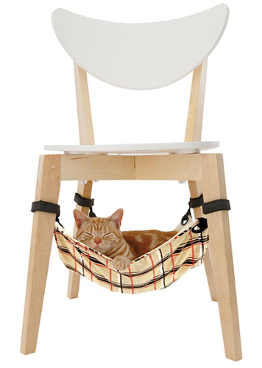 黃色格仔貓吊床(W24685)