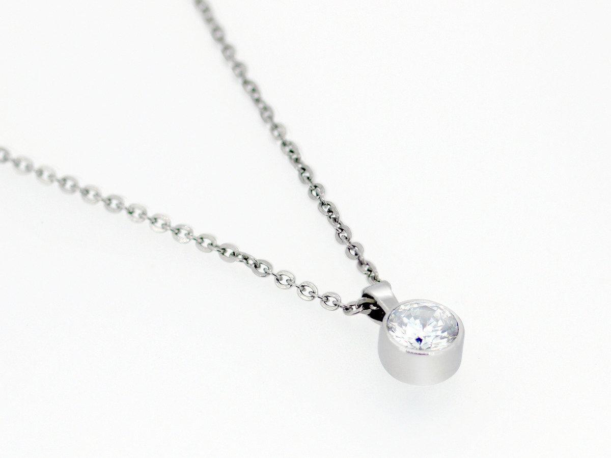 精鋼晶鑽項鍊