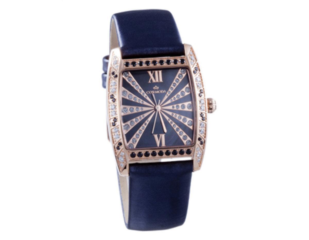 真皮 玫瑰金 精鋼 腕錶-時尚