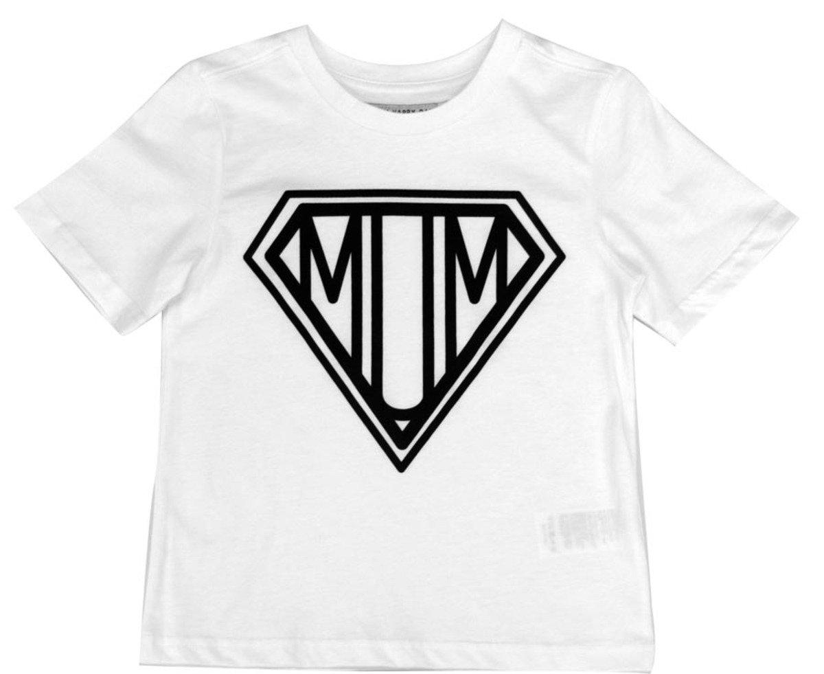 Super Mum Tee恤(白色)