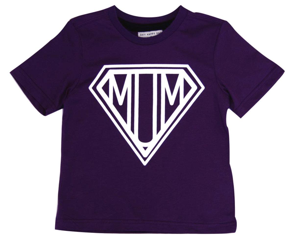 Super Mum Tee恤(紫色)