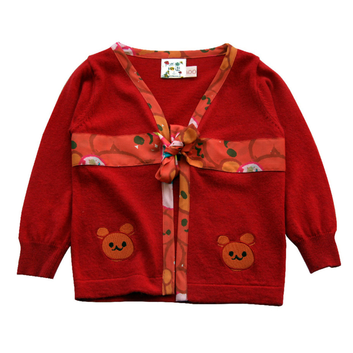 Lovie小熊絲帶毛衣(紅色)