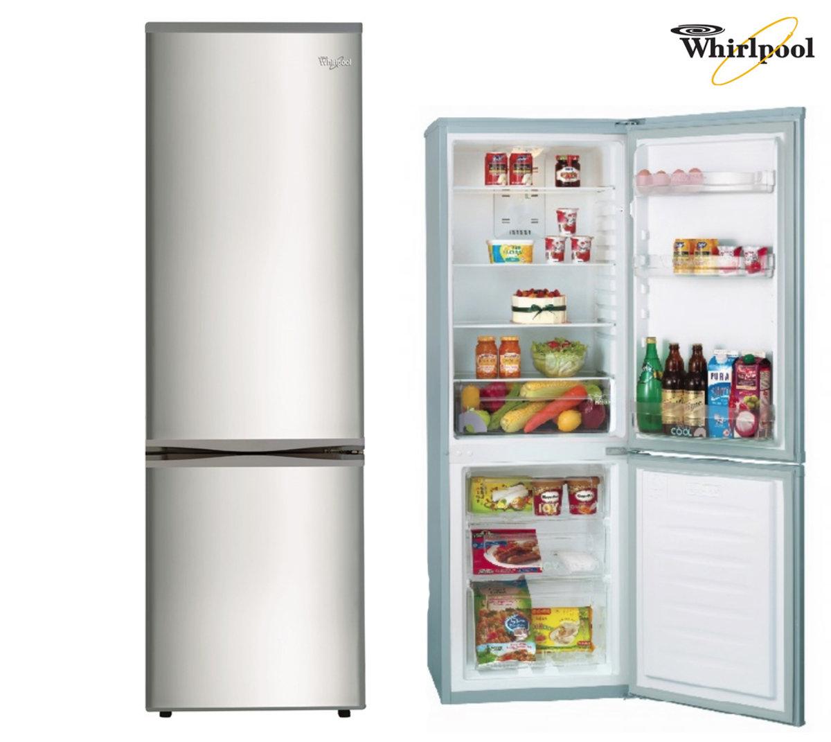 whirlpool 2 door refrigerator 224l bottom freezer wb251rix hktvmall online shopping. Black Bedroom Furniture Sets. Home Design Ideas