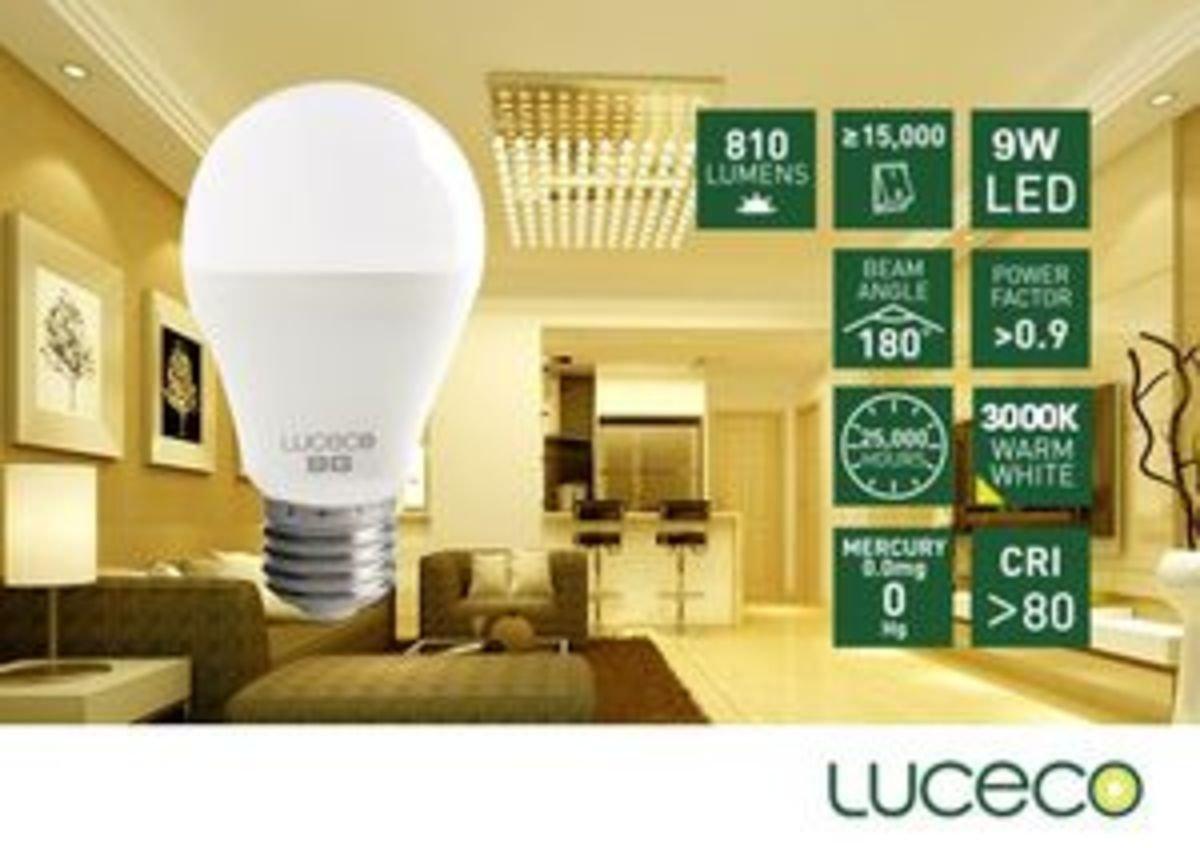 9W LED 電燈泡 (暖白 3000K)
