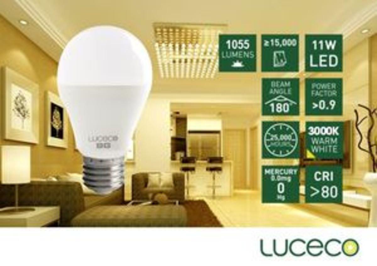 11W LED 電燈泡 (暖白 3000K)