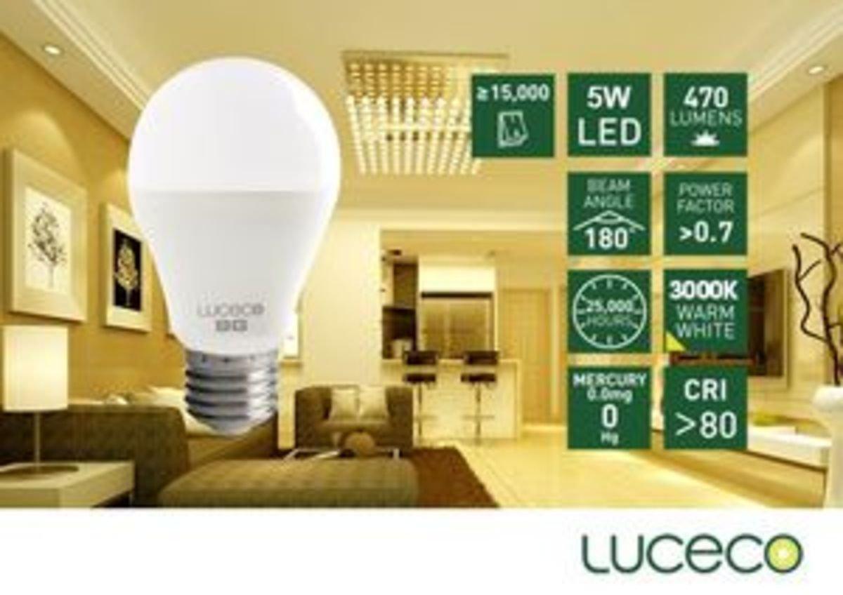 5W LED 電燈泡 (暖白 3000K)