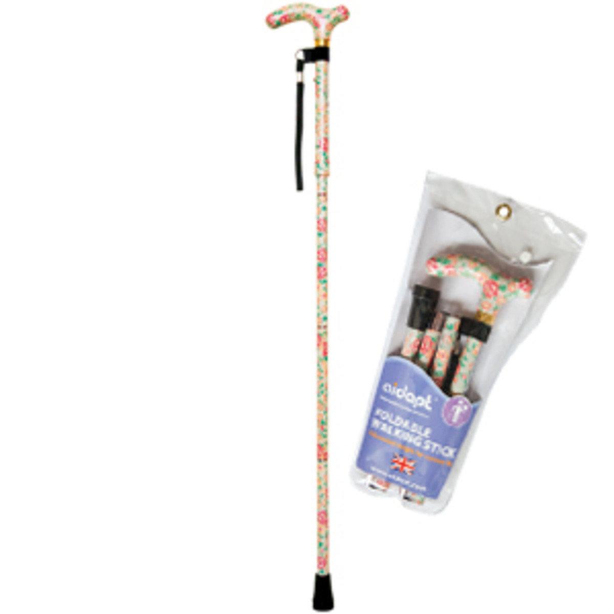 摺疊式手杖 (花開)