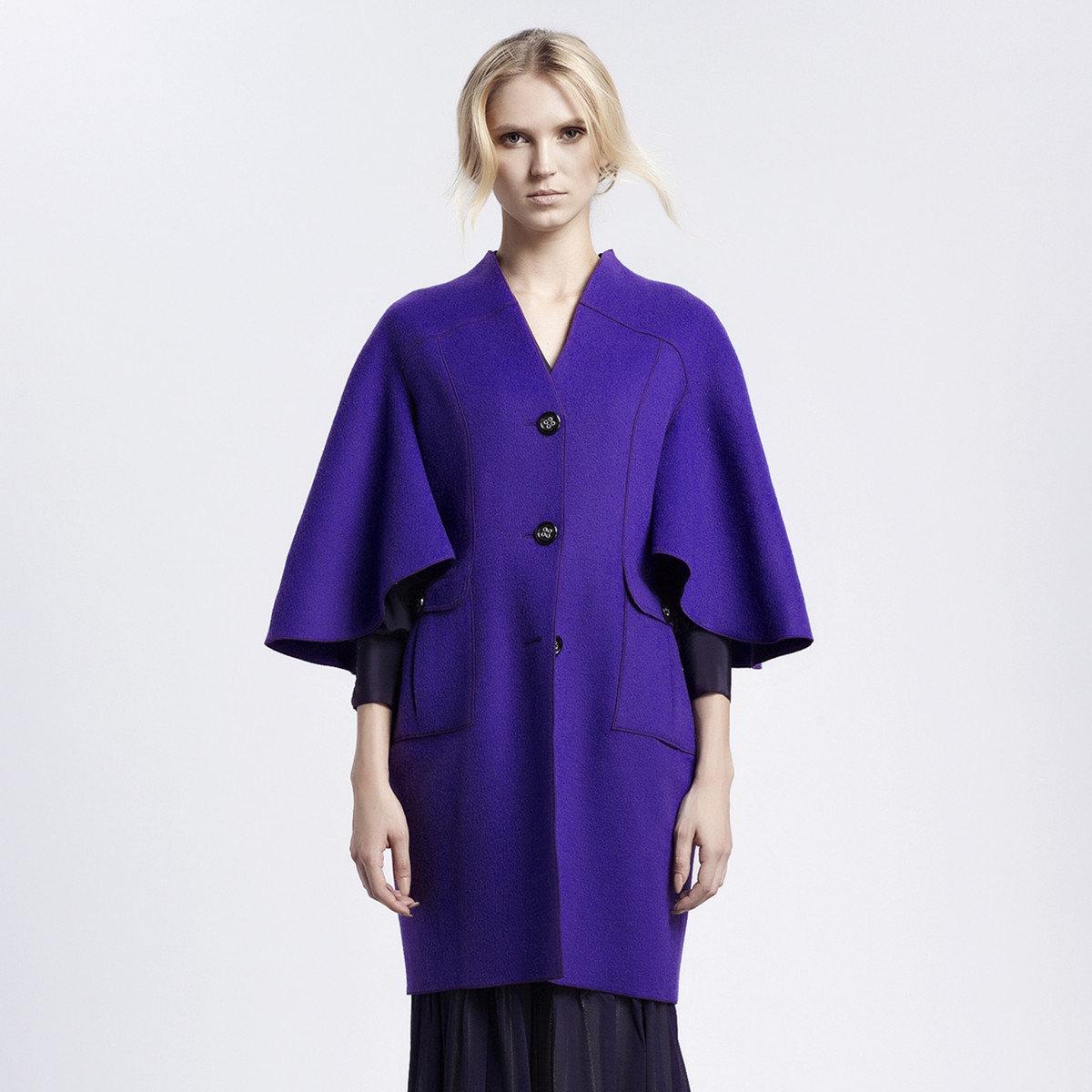 時尚紫色外套