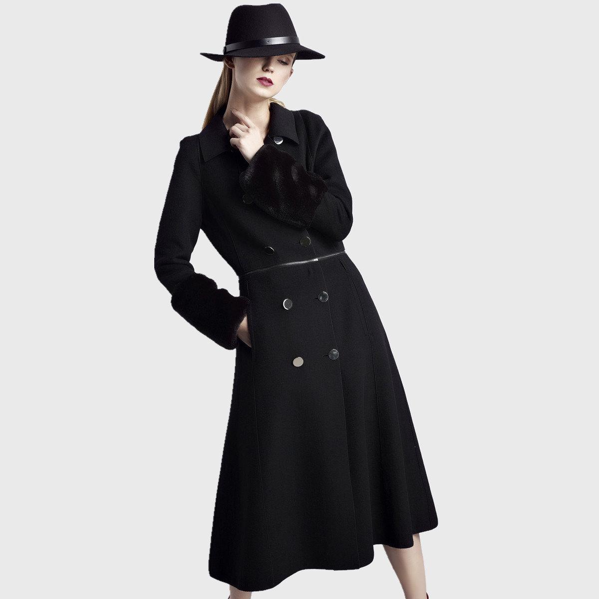 時尚黑色外套