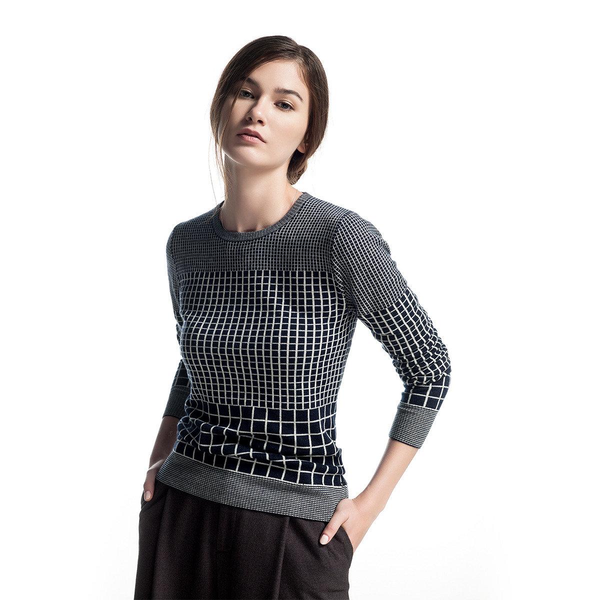 雙面羊毛格紋毛衣