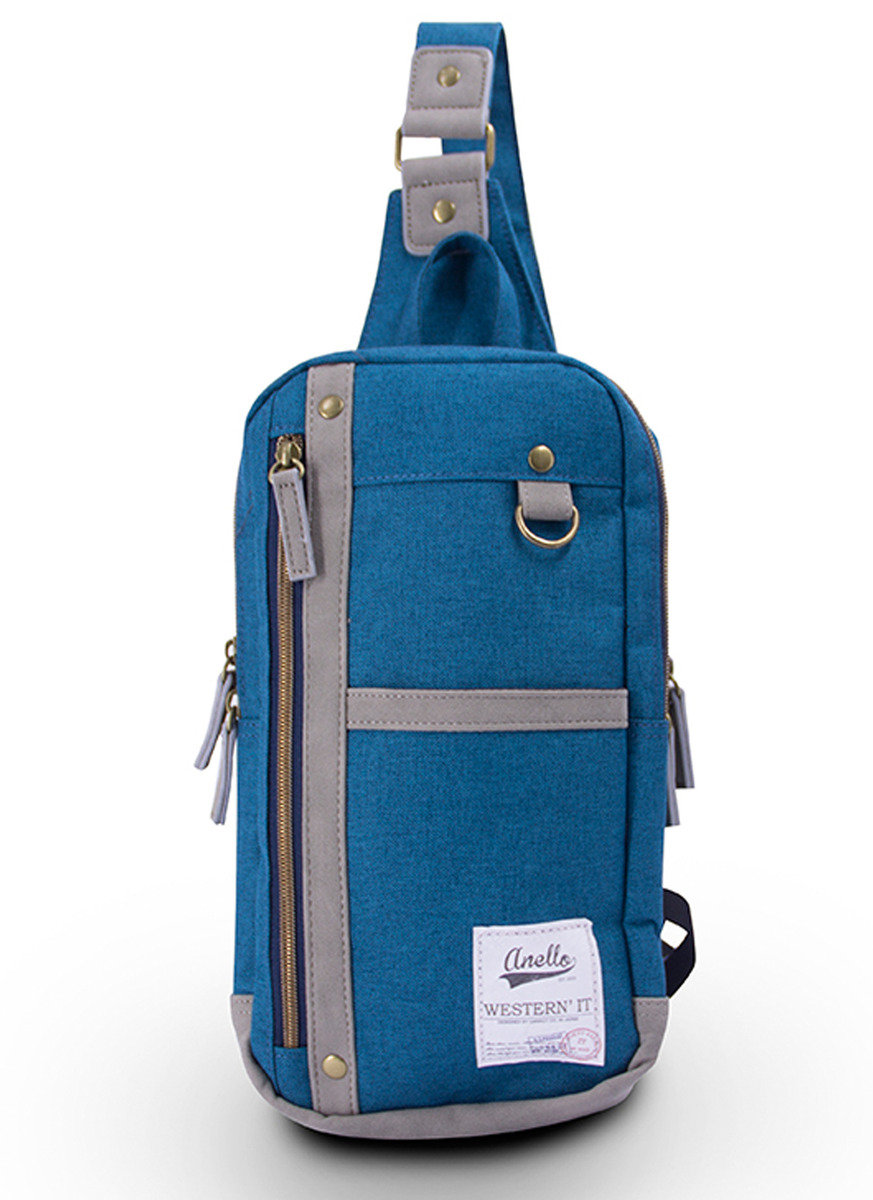 AU-A0213 單揹袋 - 藍色