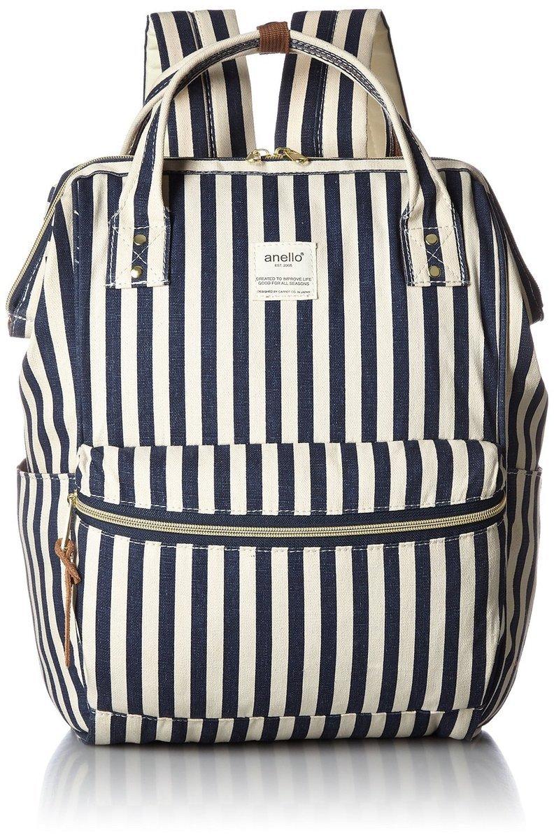 AT-B0931 背包 - 藍條紋