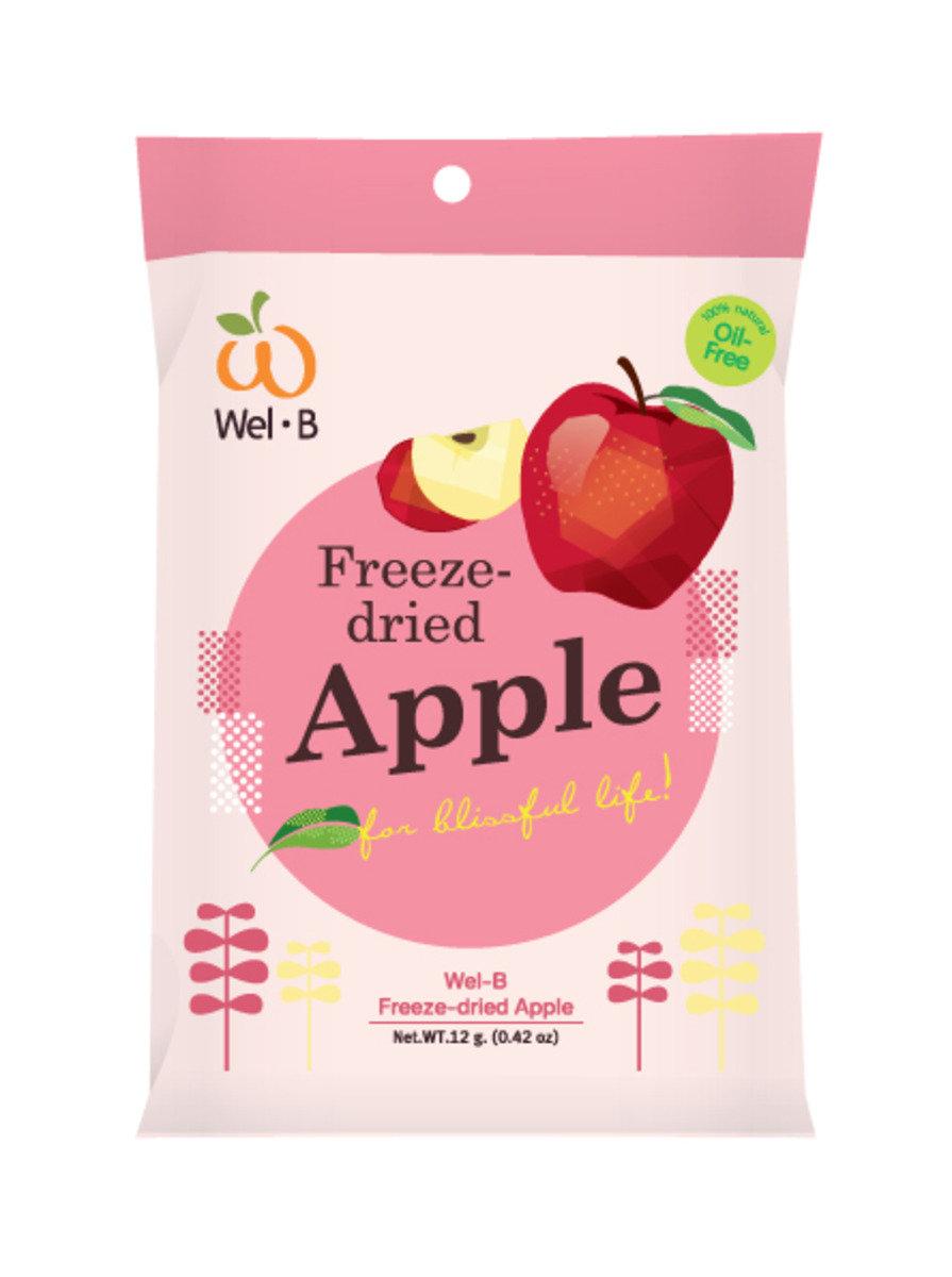 全天然冷凍乾燥蘋果脆片(無添加糖)