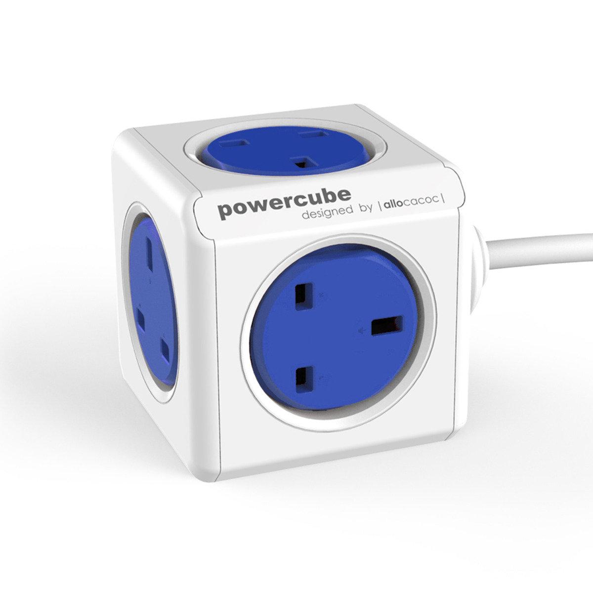 荷蘭 Allocacoc Powercube 5 插頭插座 (藍)