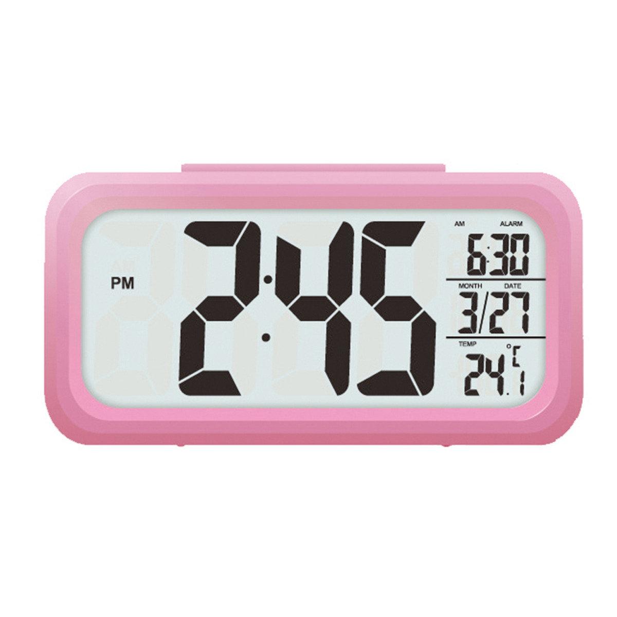 數字鐘LC105(粉紅)(溫度顯示)