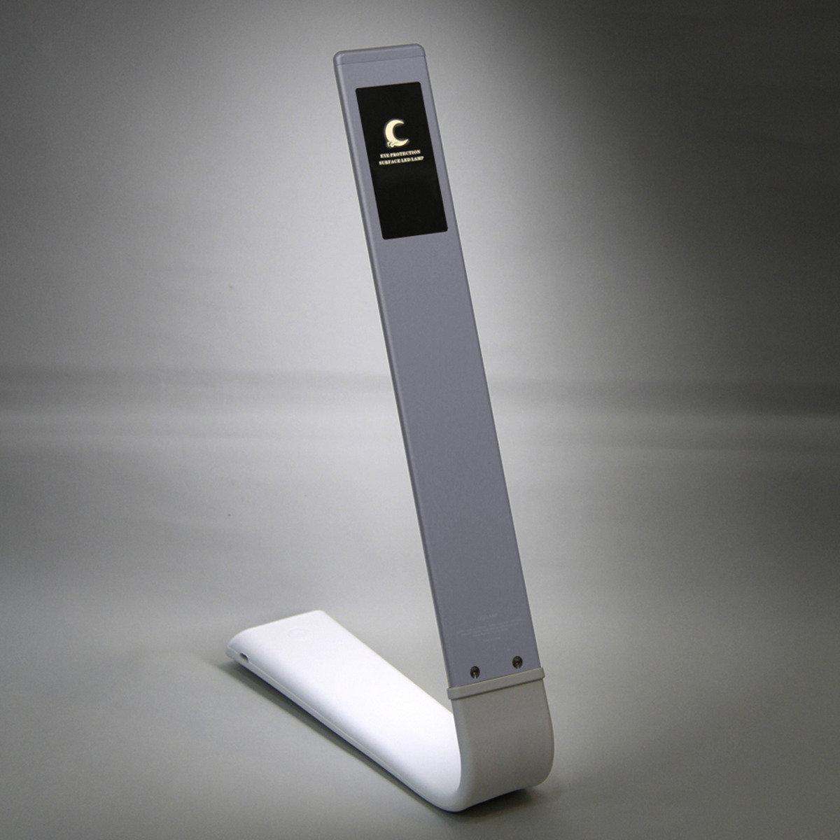 LED輕觸式調光護眼燈-銀色