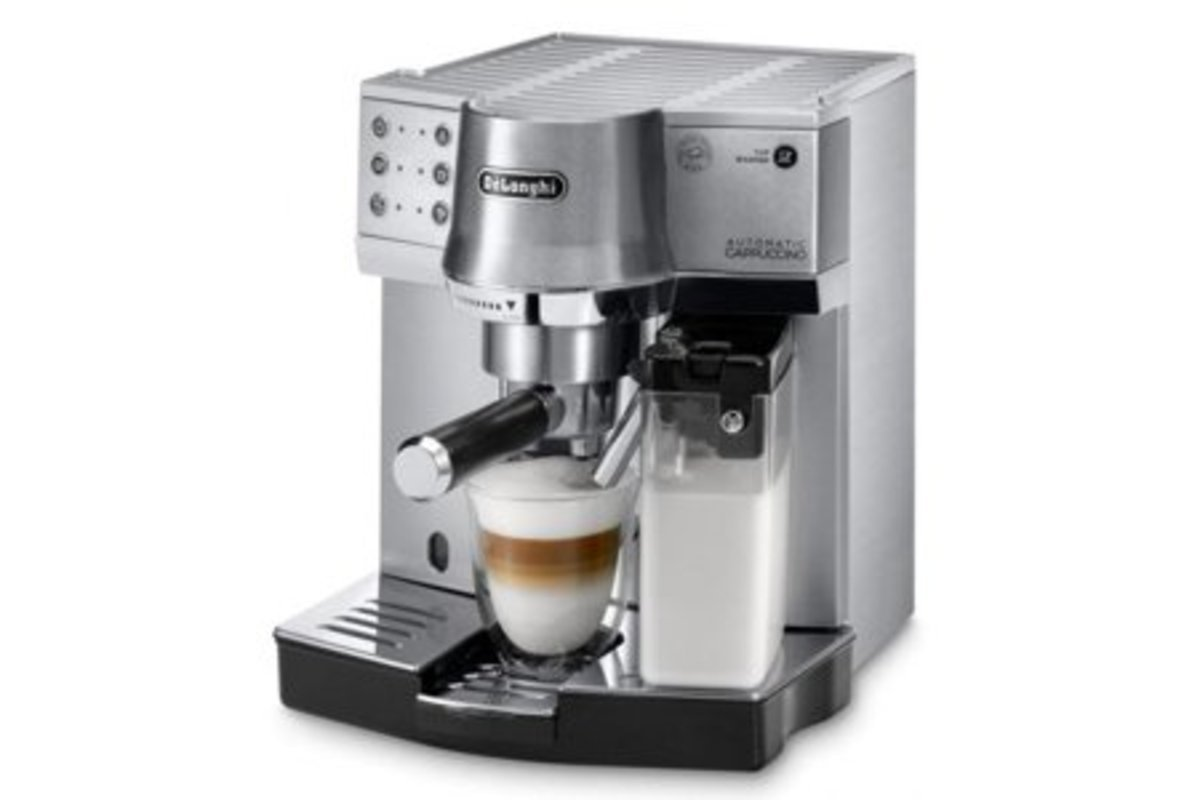 Delonghi 優雅方便咖啡機 (備有自動打奶功能)