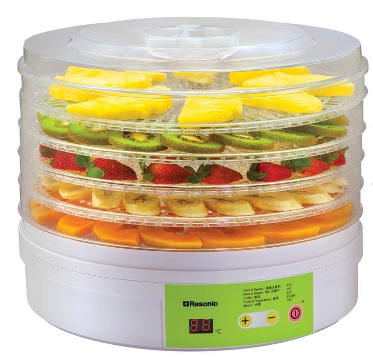 RFD-F25 5層透明圓形承物架 LED顯示窗 食物風乾機