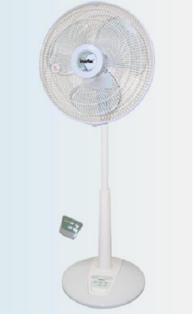 """IFL-35DR 14"""" 遙控 14"""" 立體吹風檯地扇"""