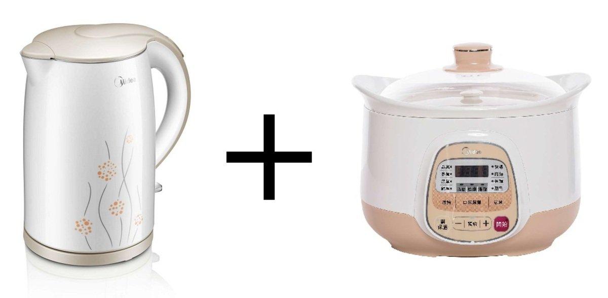 優惠套裝: 2.2公升多功能電子大燉盅 + 1.7公升防燙電熱水壺