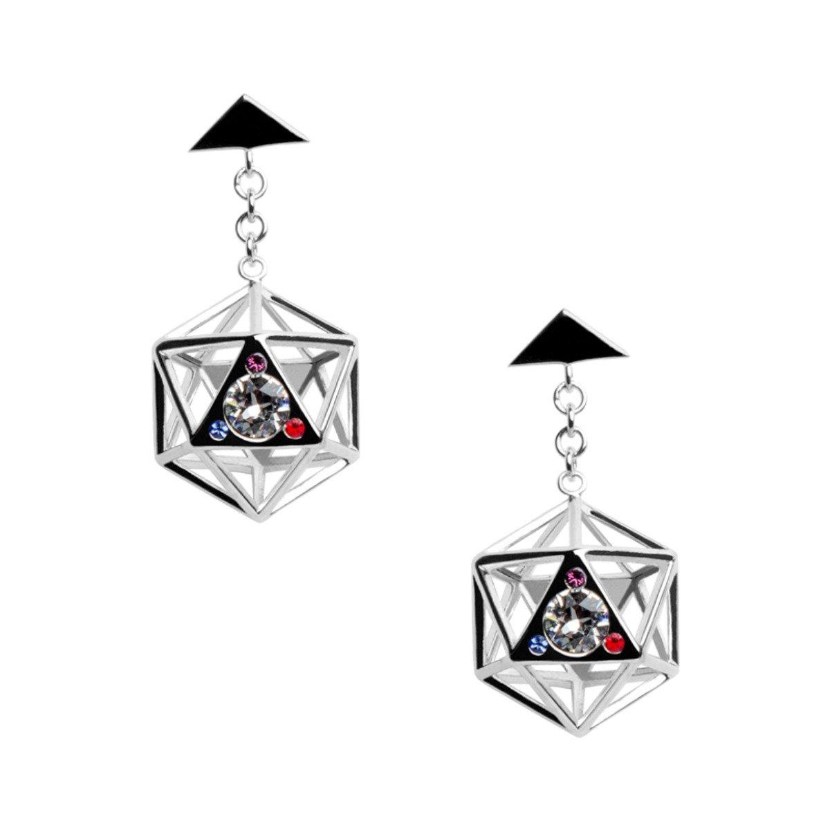 Icosahedron 925 純銀 耳環