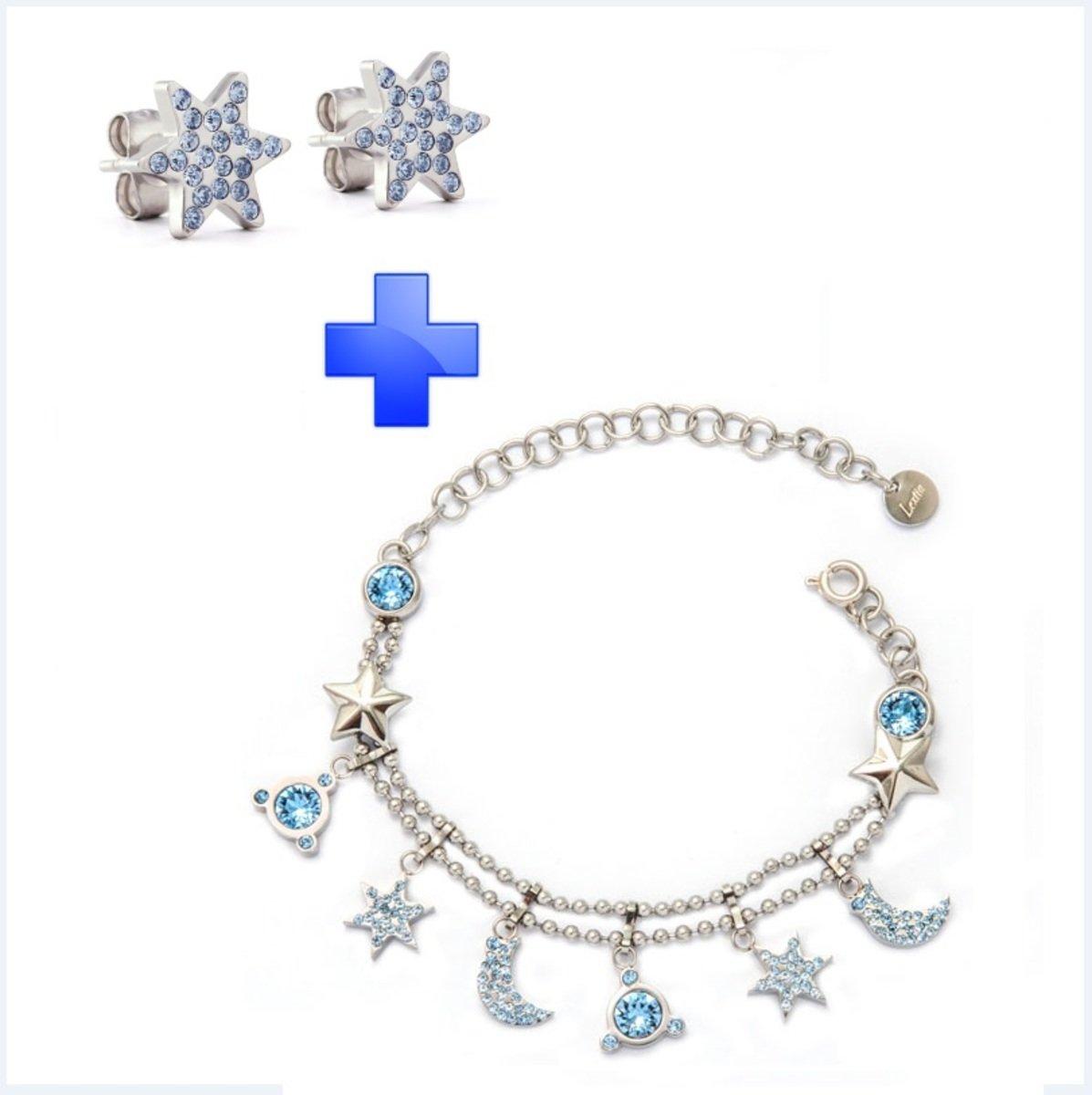 Xmas Gift Set – Galaxia 精鋼 手鏈 耳環
